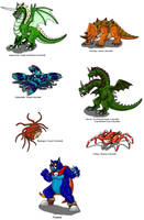 Zelda 1 Bosses by Scatha-the-Worm