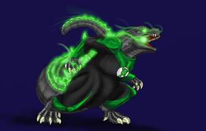 Green Lantern Godzilla by Scatha-the-Worm