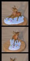 Deer sculpture by CaptainWilder