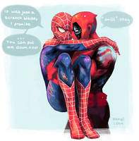 Spideypool by bambi-lena