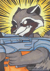 Rocket Had Come Equipped with a Gun by rajamitsu