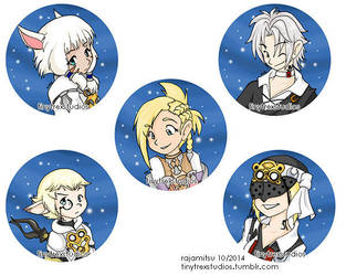 Scions of the Seventh Dawn Button Set by rajamitsu