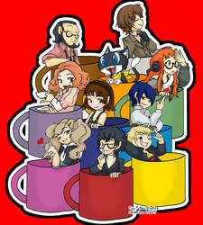 Persona 5 Mugshots by rajamitsu