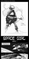 SpaceGirl 1 (1/2) by Travis Charest by Pasteljam