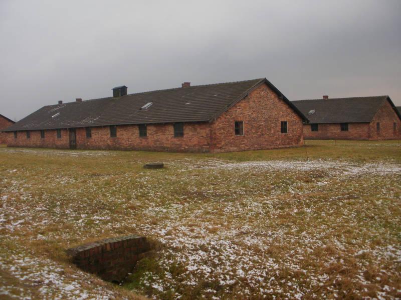 Auschwitz buildings 2 by dreamlikestock