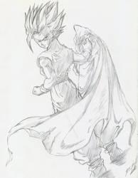 Gohan Super Saiyajin 2 by davidlatorre