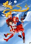 SM: Sailor Moon and Sakura by Lord--Opal