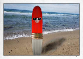 Surf Board Plastic Man by rumpuboy4