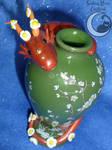 Blossom Vase Dragon by SmilingMoonCreations