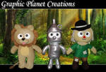 The Wizard of Oz Plushies by GraphicPlanetDesigns