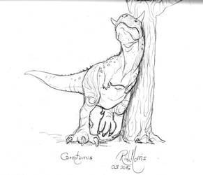 009 Carnotaurus scratching by Gorpo