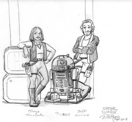 Star Wars: Sonja, Jeff and T1-BL5 by Gorpo