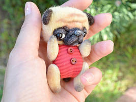 Tiny pug Benny. Sold by SulizStudio