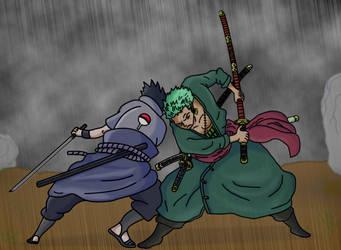 Sasuke VS Zoro by HayabusaSnake