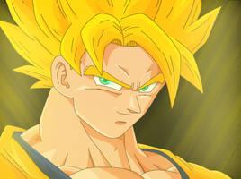 Goku Super Sayan by HayabusaSnake
