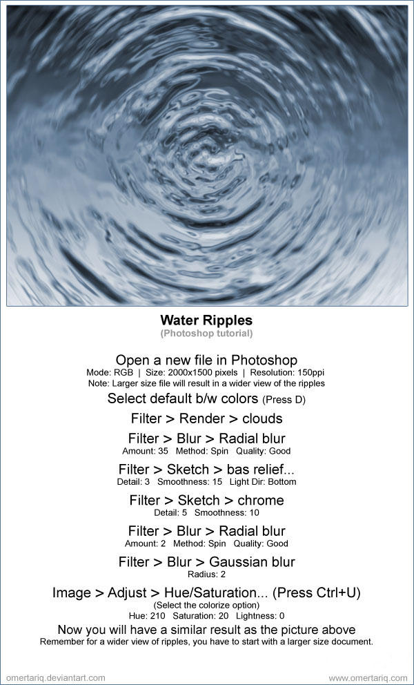 Water ripples tutorial by OmerTariq
