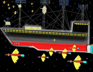 Gull Coo Fleet Heading towards Earth by OceanRailroader