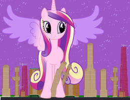 Run it's the amazing colossal Princess Cadence by OceanRailroader