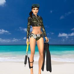 DL - Camo Swimsuit MOD by D1m0s