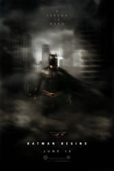 Batman Begins Movie Poster by altobello02