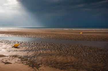 The beach one day of thunderstorm! by Laurent-Dubus