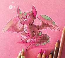 A Fluffy Fluttercat by Clareesi