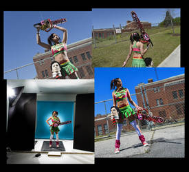 lollipop chainsaw photoshoot by BriBarnes