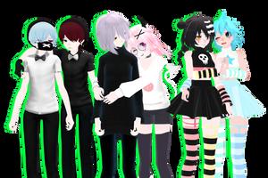 MMD OC + Soul Eater - InSinEmerHaruKidStar (Ehhh?) by AsukaJang8888