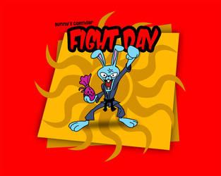 Bunny's Fight Day-Happy Easter by josemariz