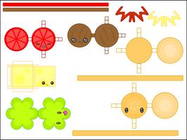 Papercraft - Hamburger by CutyCandy27