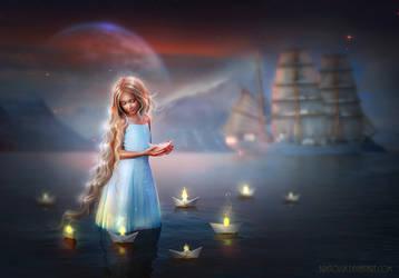 Sail Away My Little Ships - NEW WORK! by BrietOlga