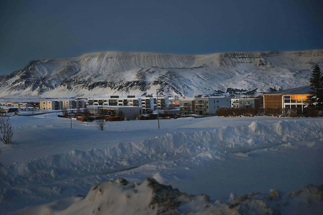 Mosfellsbaer, a little town near Reykjavik Iceland by BrietOlga