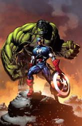 Cap and Hulk! by NesTHORcolors