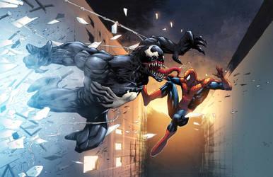 Venom vs Spidey by NesTHORcolors