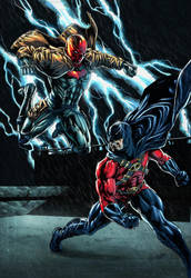 Red Robin vs Red Hood by NesTHORcolors