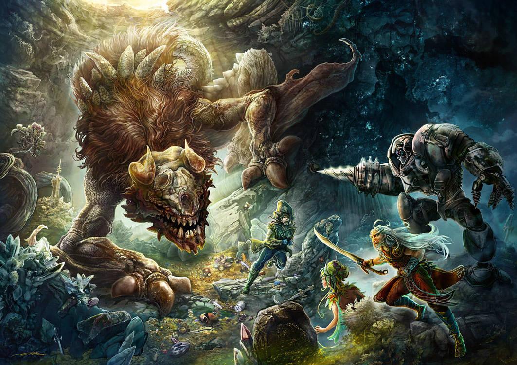 Lair of The Grimterror by ertacaltinoz