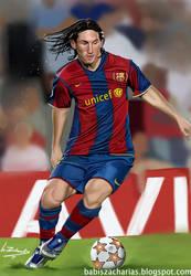 Lionel Messi digital potrait by babisZArt