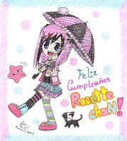 Happy B-Day Rosette 8D by ConyTachi