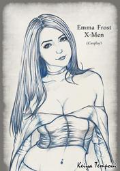 Emma Frost  X-Men by KeiyaTempoui