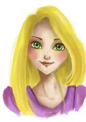Rapunzel -Tangled by DemonicBlackCat