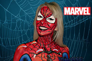 Stan Lee Tribute - Spiderman body paint by Vitani4000