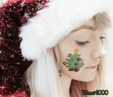 Christmas tree - Face paint by Vitani4000