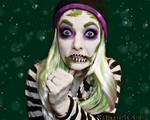 BeetleJuice - Face paint / Cosplay by Vitani4000