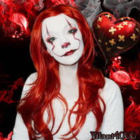 Female Pennywise - Face paint by Vitani4000