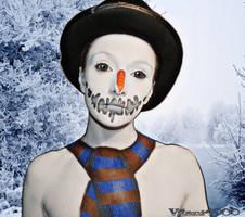 Evil Snowman - Body paint by Vitani4000