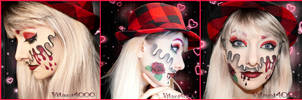 Valentine's day - Face paint by Vitani4000