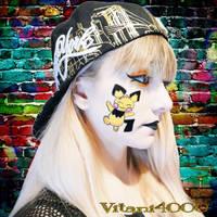 Pichu - Pokemon Face Paint by Vitani4000