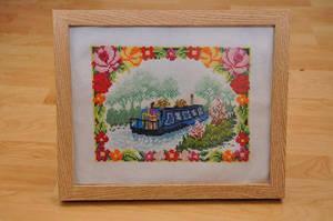 Canal Boat Cross Stitch by VickitoriaEmbroidery
