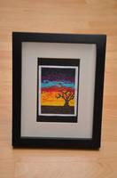 Sunset Tree Cross Stitch by VickitoriaEmbroidery
