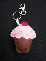 Felt Cupcake Keyring by VickitoriaEmbroidery